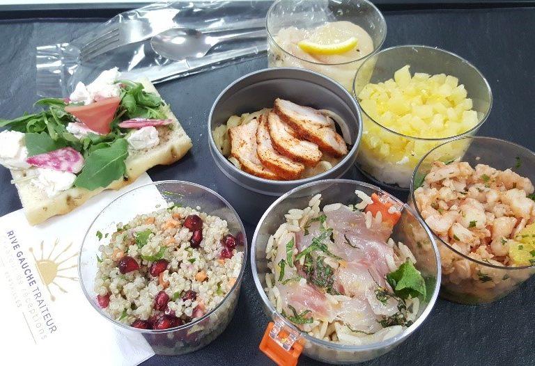 Rive Gauche Réception, livraison plateau repas pour une vraie pause déjeuner
